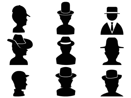 isolated man with hat icon from white background