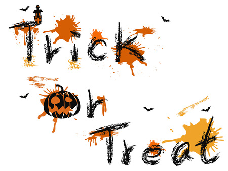 isolated Trick or Treat words design from white background