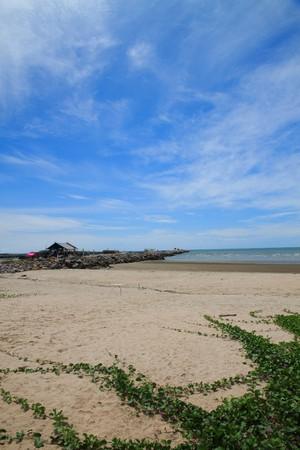 Sea sand and sky photo