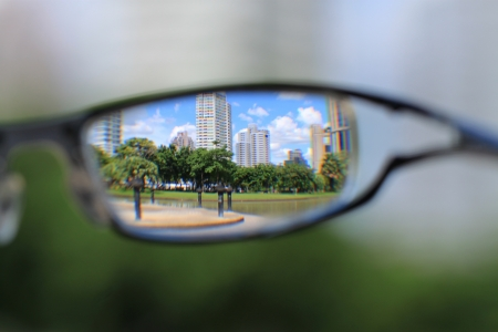View from glasses