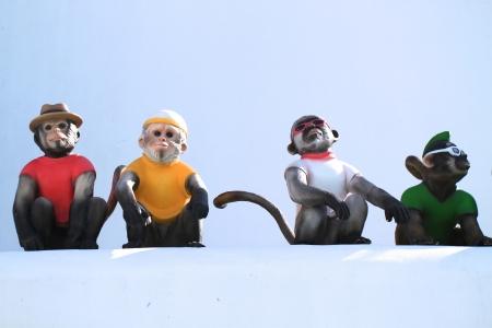 4 monkeys photo
