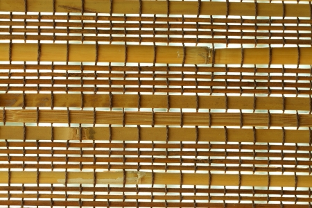 Wooden curtain made from bamboo photo