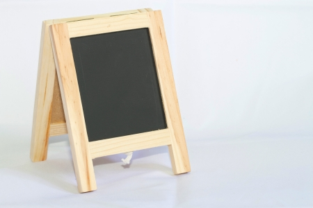 black board: Black board isolated on the white background Stock Photo