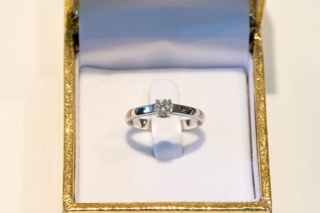 Diamond ring in a box photo