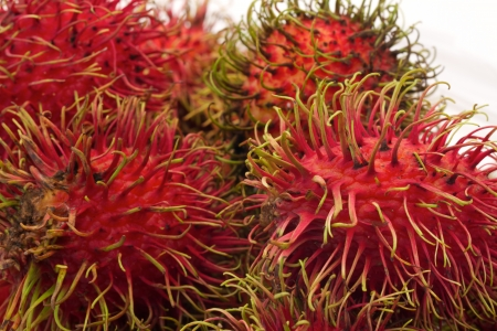 Group of rambutan on white background Stock Photo - 14898332