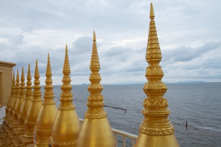 The stupa collecting bone of dead people Stock Photo