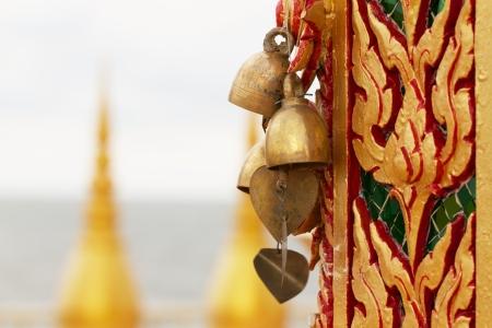 Bells hanging on the temple door