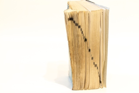 The side of old book Stock Photo