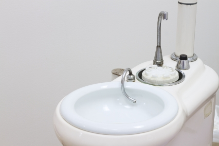 Gargle basin for mouth wash while dental treatment