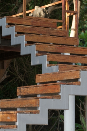 Wooden stairs outside the house Stock Photo - 16617715