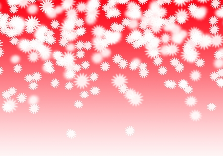 White flowers falling on the red background Stock Photo
