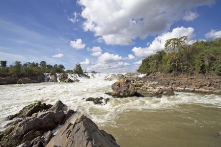Khon Phapheng waterfalls in southern Laos photo
