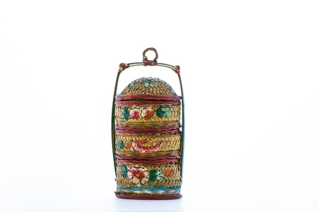 Chinese old style weave food container Stock Photo
