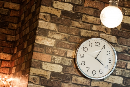 Hanging clock on the wall