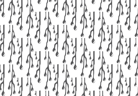 pattern of gray icicle on white background photo