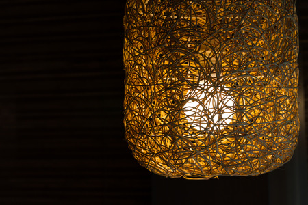 texture of designed weave lamp photo