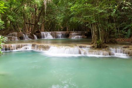 huay maekamin waterfall, kanchanaburi, thailand