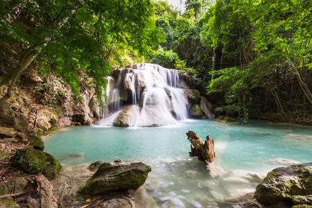 huay: huay maekamin waterfall, kanchanaburi, thailand