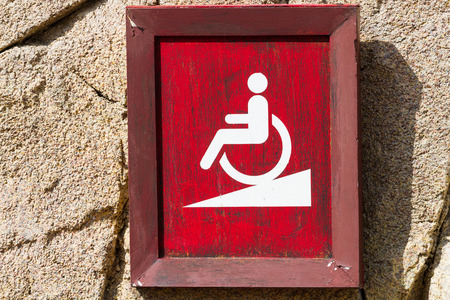 sign of ramp for wheelchair photo