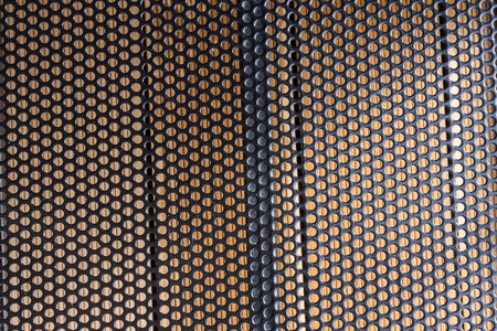 perforate: black iron carve grate texture Stock Photo