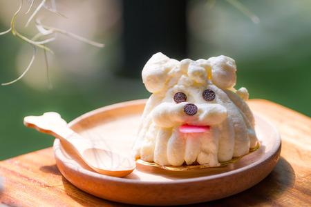 decoracion de pasteles: bizcocho decorar como perro
