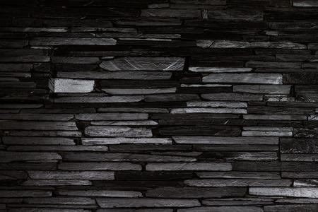 Modernen Stil schwarzen Steinmauer Standard-Bild - 35036266