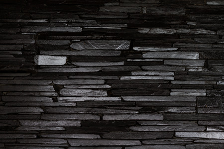 modern style black stone wall