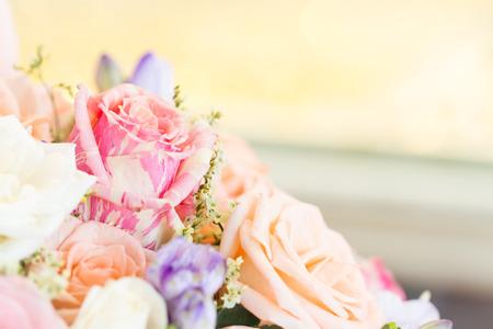 close up soft pastel roses