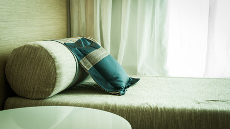 daybed: thai style pillow on daybed