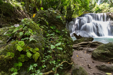 khamin: Huay mae khamin waterfalls in Thailand Stock Photo