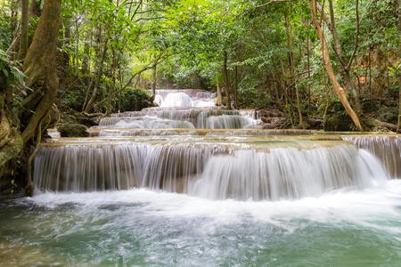 khamin: Huay mae khamin waterfalls in Thailand Stock Photo