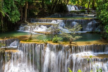 huay: Huay mae khamin waterfalls in Thailand Stock Photo