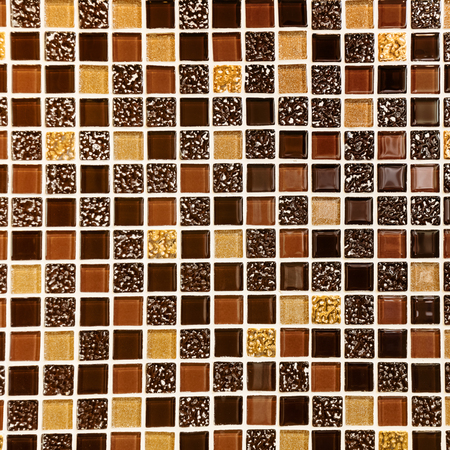 tile background: brown classic tile wall texture for interior Stock Photo