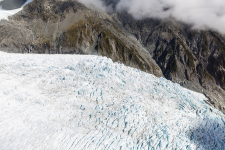 franz: Franz Josef glacier at top view from Helicopter