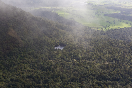 josef: land view from Helicopter at Franz Josef glacier Stock Photo