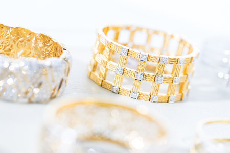 colorful soft blur diamond bracelet for background