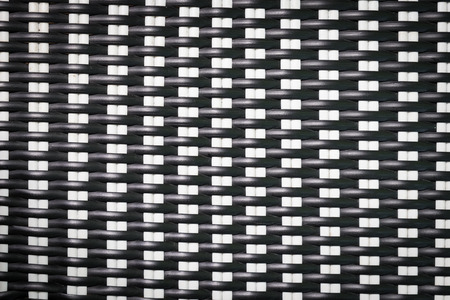 closeup black and white weave texture of furniture Stock Photo
