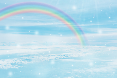 texture of cloud with rainbow on blue sky Standard-Bild - 116415853