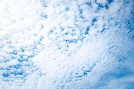 texture of cloud on blue sky Banco de Imagens
