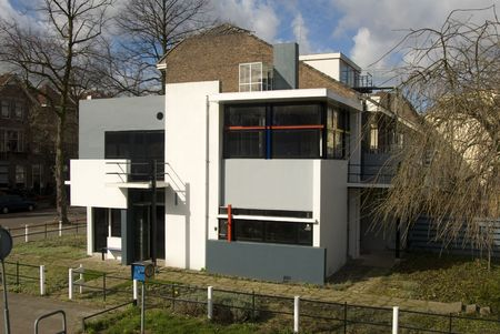 utrecht: Rietveld Schroderhuis in Utrecht, The Netherlands Stock Photo