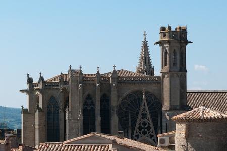 Cathedral of Saint-Michel, La Cita Carcassonne, France Stock Photo - 10596451