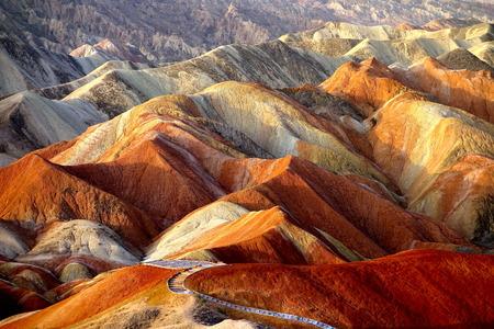 Colorful Danxia Stock Photo - 33004511