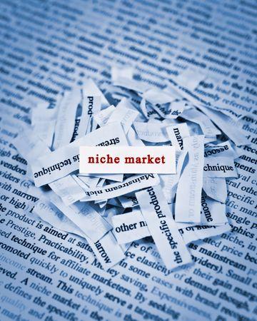 niche: concept of finding niche market Stock Photo