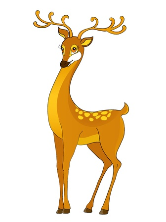 fawn: deer cartoon, with isolation on a white background Illustration