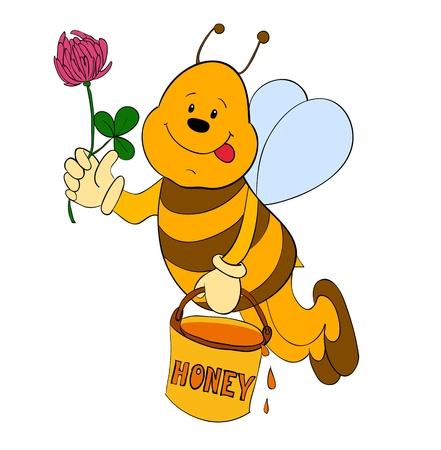 cartoon bee- illustration vector  isolated Illustration