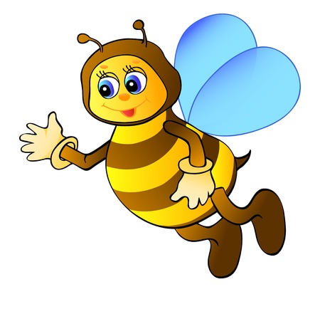 cartoon bee- illustration  Vector