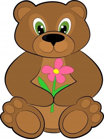 valentine s day teddy bear: bear cartoon Illustration