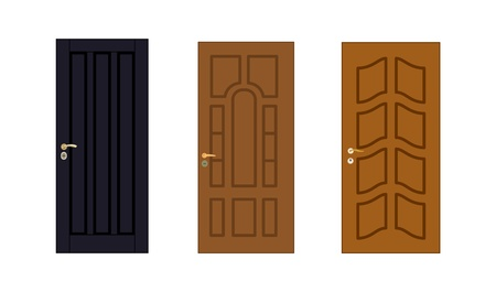 Modern Doors Collection Stock Vector - 15827716