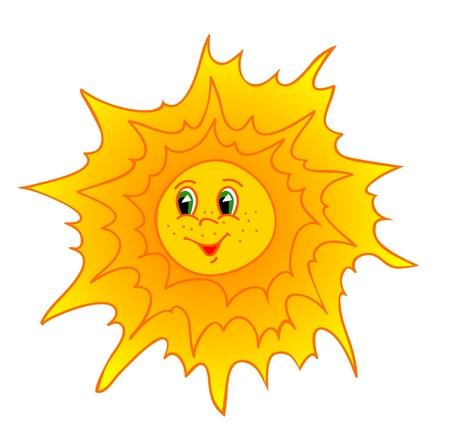 beauty sun cartoon. Vector