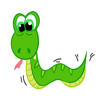 snake cartoon with isolation on a white background Vector